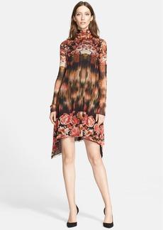 Jean Paul Gaultier Print Turtleneck Tulle Trapeze Dress (Nordstrom Exclusive)