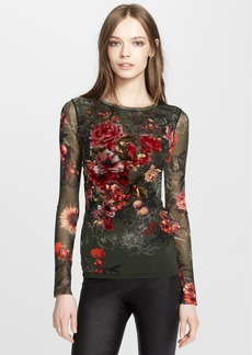 Jean Paul Gaultier Print Velvet Appliqué Top
