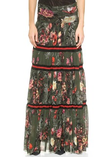 Jean Paul Gaultier Printed Maxi Skirt