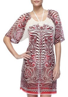 Jean Paul Gaultier Printed Sheer Chiffon Coverup
