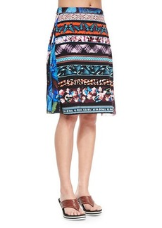 Jean Paul Gaultier Printed Stretch Coverup Skirt  Printed Stretch Coverup Skirt