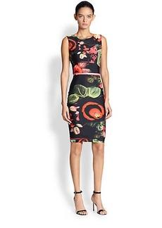 Jean Paul Gaultier Printed Stretch Dress