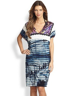 Jean Paul Gaultier Rayure Bateau Print Dress