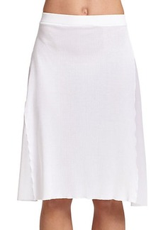 Jean Paul Gaultier Rib-Knit Coverup Skirt