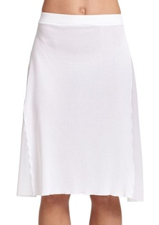 Jean Paul Gaultier Rib-Knit Coverup Skirt