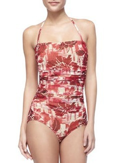 Jean Paul Gaultier Ruched Floral-Print One-Piece Swimsuit
