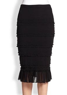 Jean Paul Gaultier Ruffle-Detail Tulle Skirt