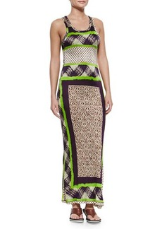 Jean Paul Gaultier Scarf-Print Fitted Tank Dress