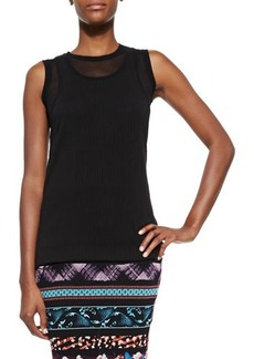 Jean Paul Gaultier Sheer Double-Layered Tank Top, Black