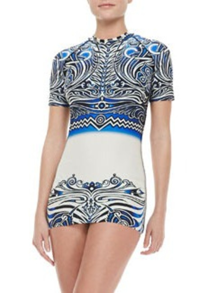 Jean Paul Gaultier Short-Sleeve Rashguard Top