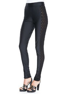 Jean Paul Gaultier Side Cutout Leggings, Black