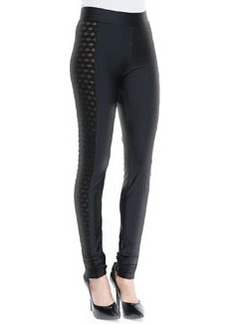 Jean Paul Gaultier Side-Cutout Leggings, Black
