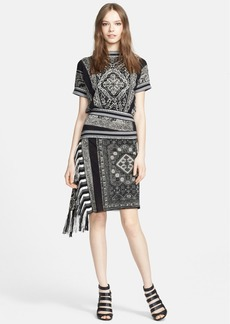Jean Paul Gaultier 'Soleil' Print Asymmetrical Fringe Dress