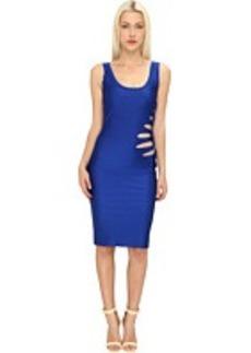 Jean Paul Gaultier Solid Cut-Out Rosette Dress