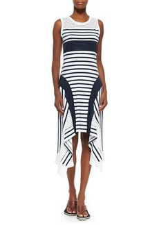 Jean Paul Gaultier Sport-Stripe Handkerchief-Hem Tank Dress  Sport-Stripe Handkerchief-Hem Tank Dress