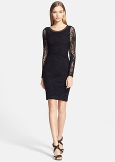 Jean Paul Gaultier Tattoo Lace Fitted Dress (Nordstrom Exclusive)