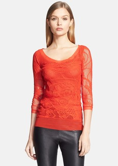 Jean Paul Gaultier Tattoo Lace Tulle Top (Nordstrom Exclusive)