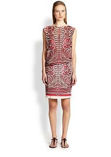Jean Paul Gaultier Tattoo Print Dress