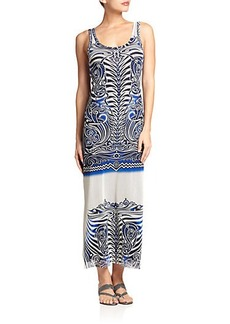 Jean Paul Gaultier Tattoo-Print Maxi Dress