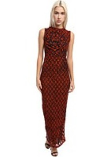 Jean Paul Gaultier Tiger Polka Dot Tulle Sleeveless Long Dress