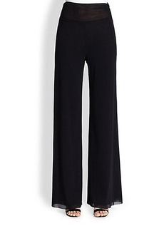 Jean Paul Gaultier Tulle Wide-Leg Pants