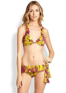 Jean Paul Gaultier Two-Piece Printed Ruffle Bikini