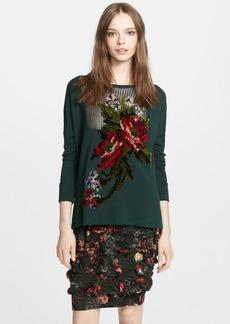 Jean Paul Gaultier Velvet Appliqué Sweatshirt