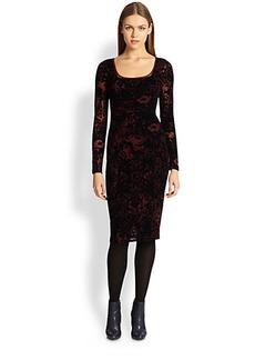 Jean Paul Gaultier Velvet Square-Neck Dress