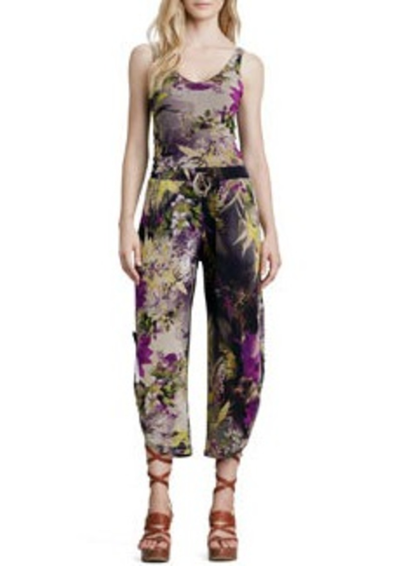 Jean Paul Gaultier Winter Floral-Print Pants