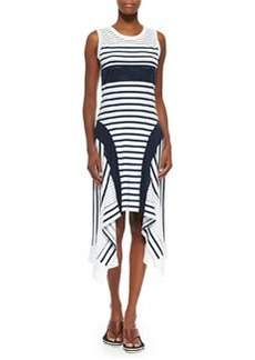 Sport-Stripe Handkerchief-Hem Tank Dress   Sport-Stripe Handkerchief-Hem Tank Dress