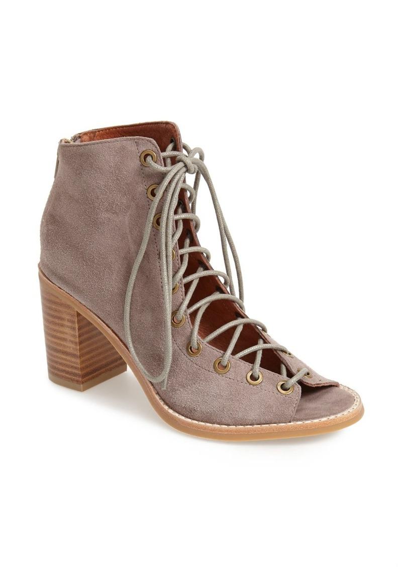 jeffrey campbell jeffrey campbell 39 cors 39 suede peep toe bootie women shoes shop it to me. Black Bedroom Furniture Sets. Home Design Ideas