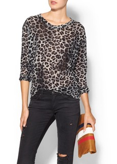 JET by John Eshaya Leopard Print Sweater
