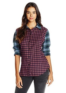 JET Corp Women's Mix Plaid Shirt, Red Check, Medium/Large