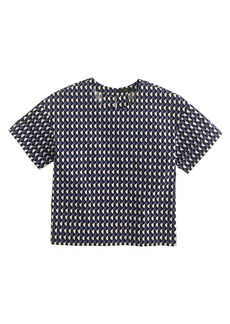 Jet-set geo cropped top