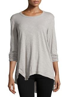 Jethro Long-Sleeve Asymmetric Tunic Top