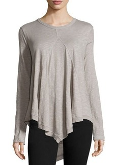 Jethro Long-Sleeve Scoop-Neck Tunic w/Front Gusset