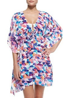 JETS by Jessika Allen Plunging Collage Caftan W/ Empire Waist
