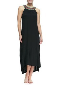 JETS by Jessika Allen Sleeveless Bead-Neck Coverup Maxi Dress