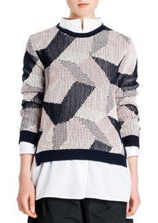 Abstract Intarsia Knit Sweater   Abstract Intarsia Knit Sweater