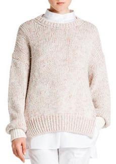 Cashmere Melange Crew Sweater   Cashmere Melange Crew Sweater