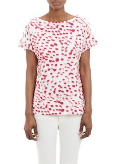 "Jil Sander Abstract Peacock Feather ""Ladies"" T-shirt"