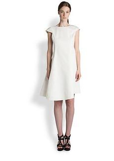 Jil Sander Asymmetrical Stretch Cotton Dress