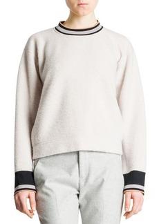Jil Sander Banded-Trim Boxy Sweater, Ivory