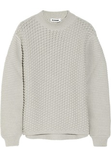 Jil Sander Bobble and ribbed-knit wool and cashmere-blend sweater