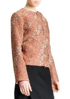 Jil Sander Confetti Floral Boucle Zip Jacket, Terracotta