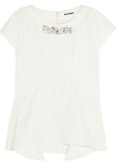 Jil Sander Crystal-embellished cotton top