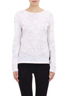 Jil Sander Filigrana-Print Long-Sleeve T-shirt