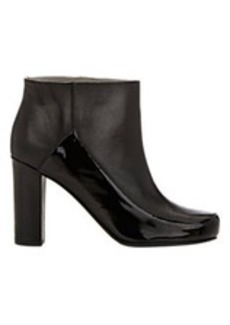 Jil Sander Leather & Patent Ankle Boots