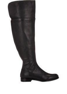 Jil Sander Leather Back-Zip Knee Boots