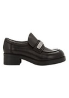 Jil Sander Leather Platform Loafers